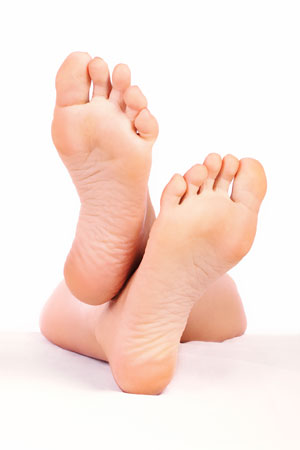 Feet after chiropody treatment
